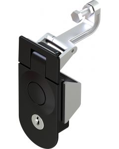 1245-2 Key Locking K751 Lever Latch in Black