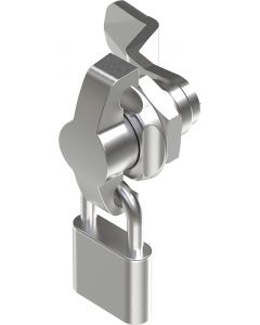 1406 Stainless Steel Padlockable Quarter Turn Lock with 18mm Grip Height