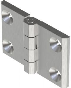 2101-576 Stainless Steel Screw On Hinge 50x76mm M6