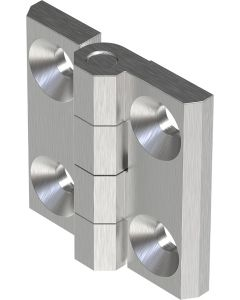 2101-600 Stainless Steel 316 Screw On Hinge 60x60mm with M8 Holes