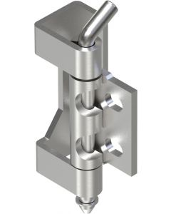 2408 Stainless Steel 304 Concealed Hinge 90mm with M6 Holes
