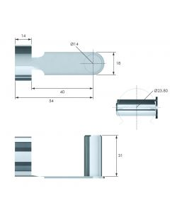 14mm Clevis Fork Clip