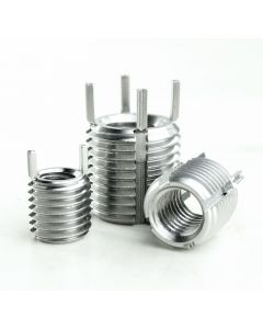 M8-M14 Stainless Steel Key Locking Threaded Insert with a 14mm Depth