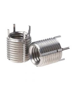 M2-M4 Stainless Steel Key Locking Threaded Insert with a 3mm Depth