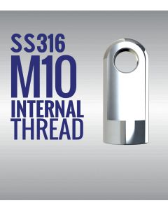Stainless Steel 316 Eye End Fitting with 10mm Thread SSE13