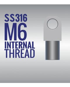 Stainless Steel 316 Eye End Fitting with 6mm Thread