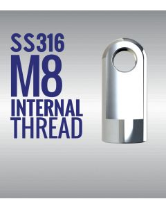 Stainless Steel 316 Eye End Fittings with 8mm Thread