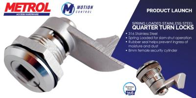 New product - Spring Loaded Quarter Turn Slam Lock 18mm