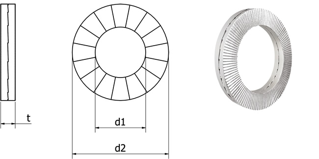 wedge washer technical image