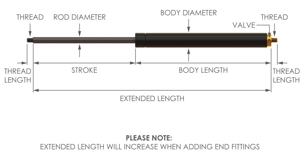 adjustable gas strut
